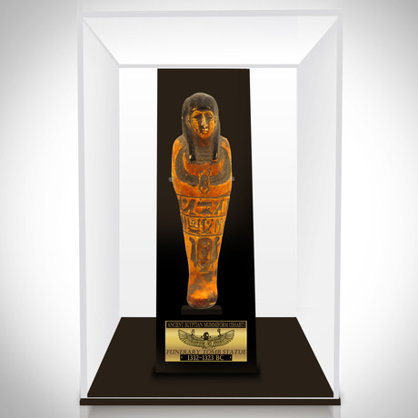 Ancient Egyptian Authentic Large Terracotta Tomb Statue // Museum Display