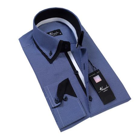 Reversible Cuff Button-Down Shirt // Blue Checkers (S)