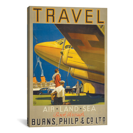 "Art Travel // Vintage Apple Collection (12""W x 18""H x 0.75""D)"