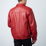 Mason + Cooper // Walden Leather Bomber // Cherry (S)