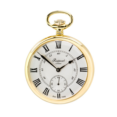 Rapport Oxford Open Face Pocket Watch Manual Wind // PW22