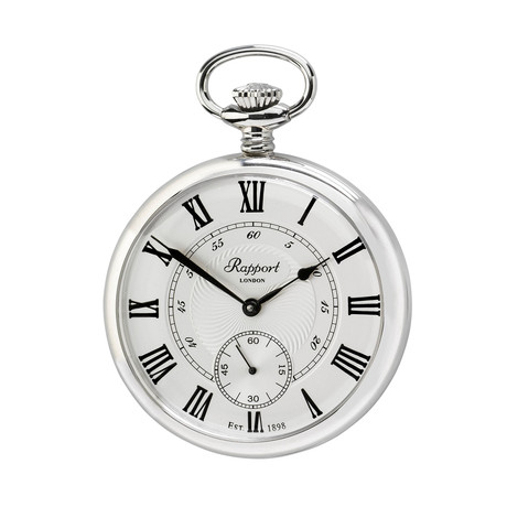 Rapport Oxford Open Face Pocket Watch Manual Wind // PW23