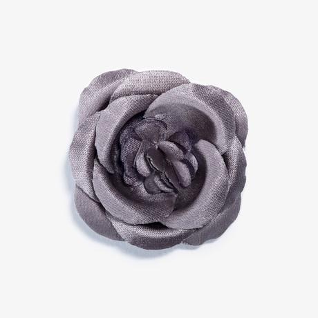 Mahal Buttercup Lapel Flower // Grey