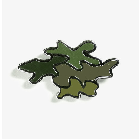 Camo Lapel Pin // Green