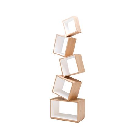 Equilibrium Bookcase // Natural Wood // White Oak