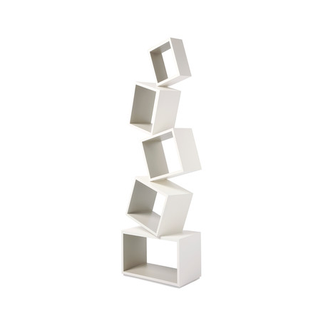 Equilibrium Bookcase // Modern Light // Ivory