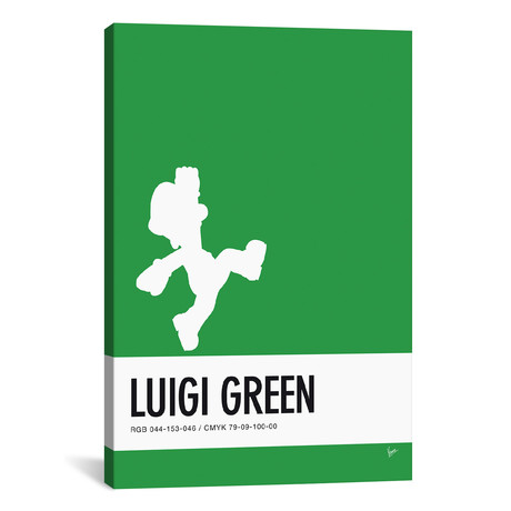 Luigi // Minimal Colorcode Poster // Chungkong