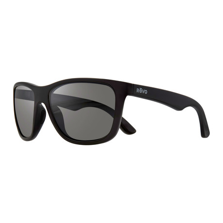 Otis Modified Square Sunglasses // Black + Graphite