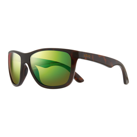 Otis Modified Square Sunglasses // Tortoise + Green Water