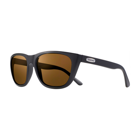 Grand Sixties Sunglasses // Glass Lenses // Matte Black + Bronze