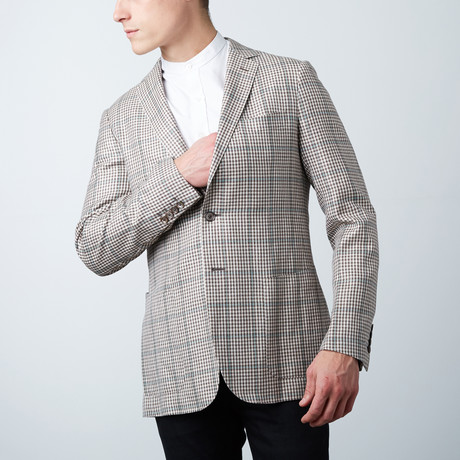 Leonardo Tailored Jacket // White + Brown