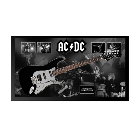 Framed Autographed Guitar // Angus Young