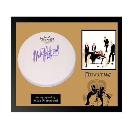Framed Autographed Drumhead Collage // Fleetwood Mac