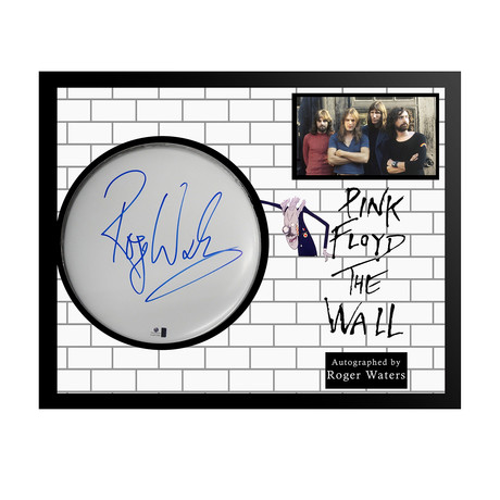 Framed Autographed Drumhead Collage // Pink Floyd