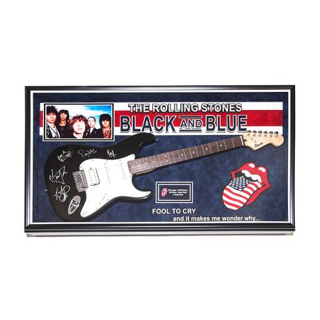Autographed + Framed Guitar // Rolling Stones