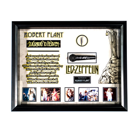 Autographed Microphone Collage // Led Zeppelin