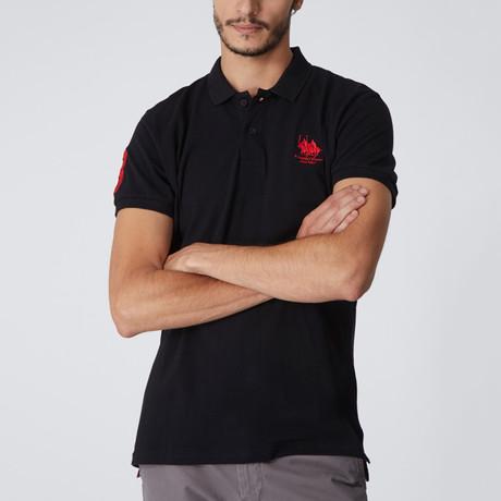 Polo Club Shirt // Black + Red (M)