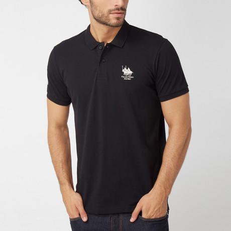 Polo Club Shirt // Black + Silver