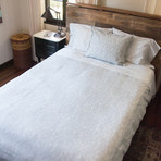 Textured Solid Linen + Cotton Comforter // Silver (Twin / Twin Extra Long)