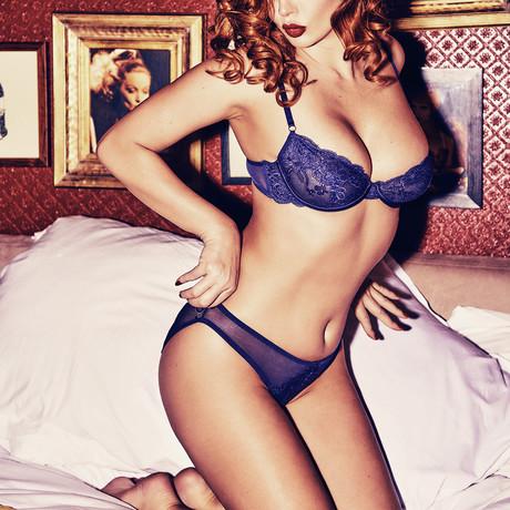 Sadie Midnight Blue Lace Bra