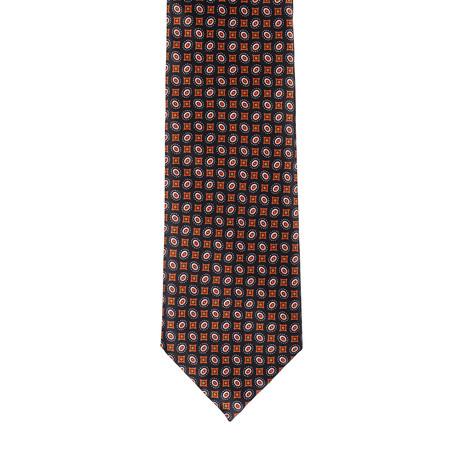 Brioni Patterned Tie // Brown