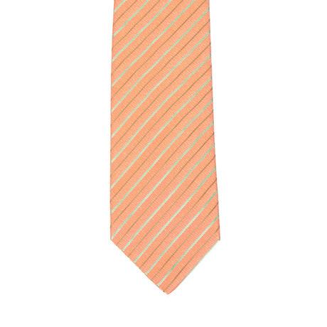 Isaia Thin Striped Tie // Salmon