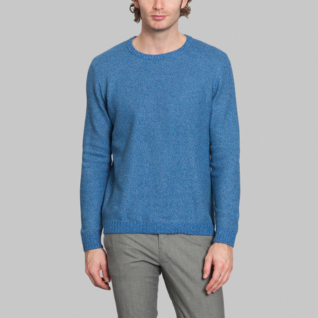 Melance Knit Sweater // Sky Blue Chine