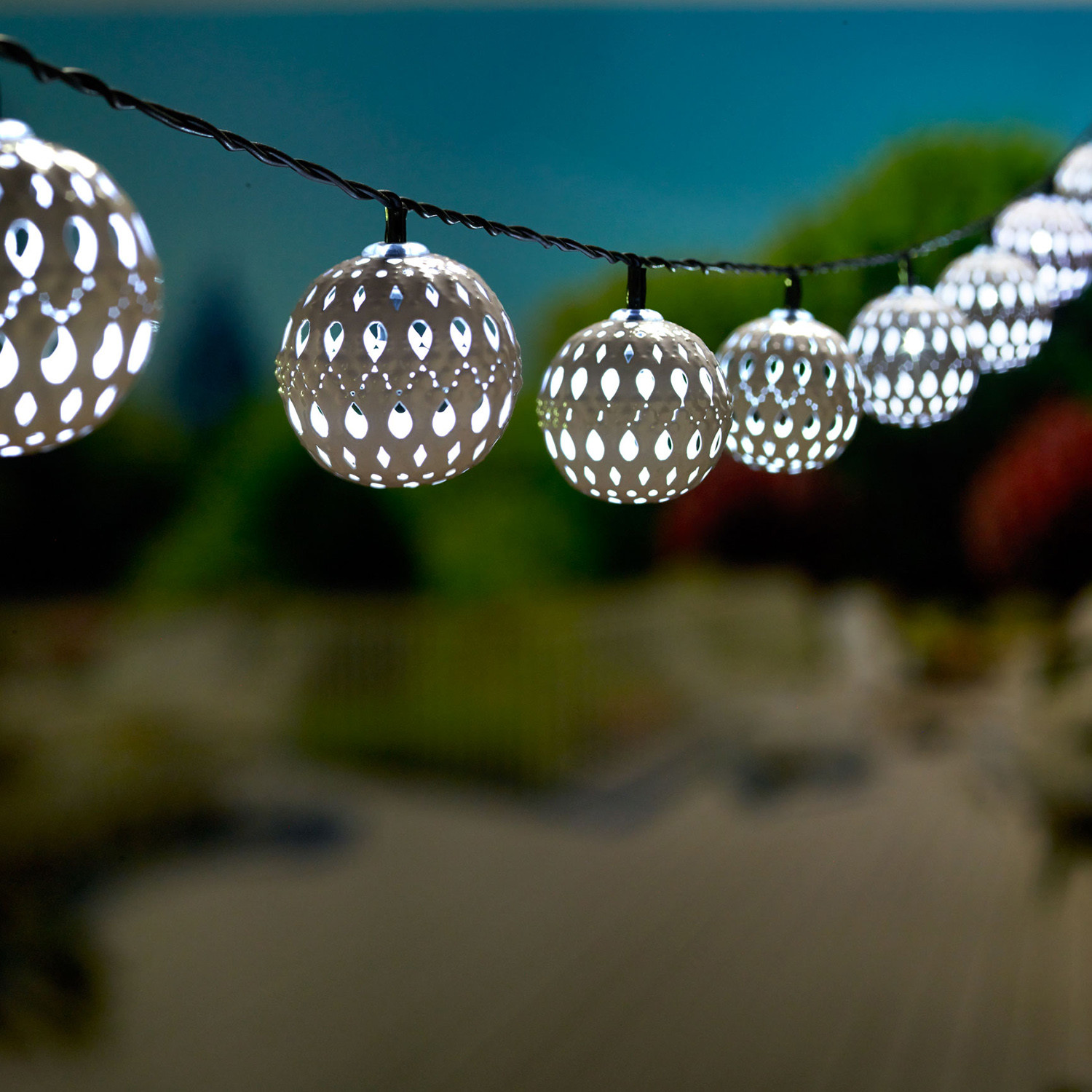 carnival solar string lights smart living home garden touch of