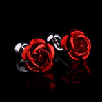 Exclusive Cufflinks + Gift Box // Red Rose