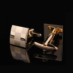 Exclusive Cufflinks + Gift Box // Gold Squares