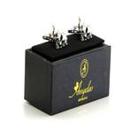 Exclusive Cufflinks + Gift Box // Silver Elephants