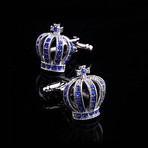 Exclusive Cufflinks + Gift Box // Silver Diamond Crowns