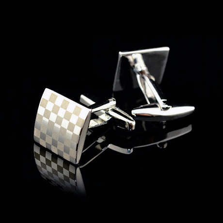 Exclusive Cufflinks + Gift Box // Silver Squares