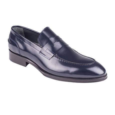 Patent Leather Penny Loafer  // Navy Patent (Euro: 39)
