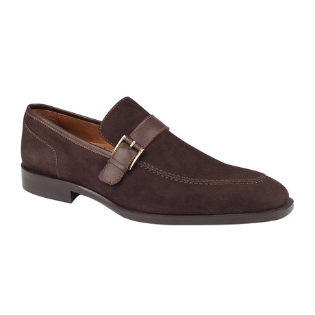 Cross Strap Loafer  // Brown Suede (Euro: 39)