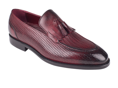 Photo of Torento Loafers + Dress Shoes Woven Tassel Loafer // Burgundy Straw (Euro: 39) by Touch Of Modern