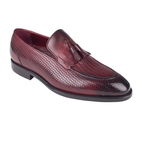 Woven Tassel Loafer  // Burgundy Straw (Euro: 39)