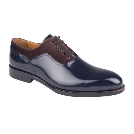 Contrast Patent Leather Oxford  // Navy Patent (Euro: 39)