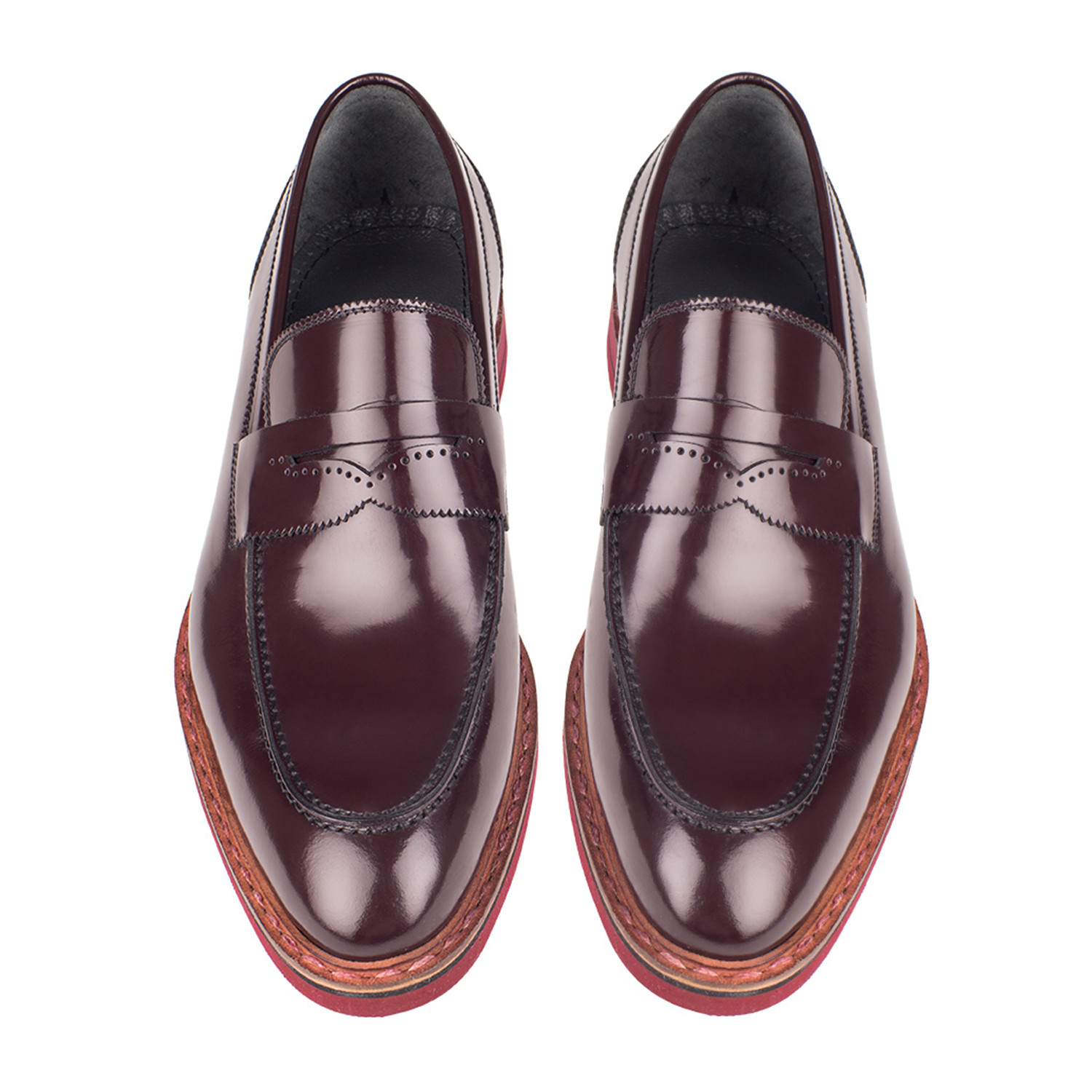 Patent Leather Penny Loafer // Burgundy (Euro: 44 ...