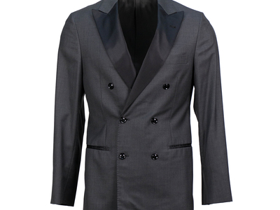 Photo of Designer Tuxedos Versace, Pal Zileri, & More Brunello Cucinelli // Satin Trim Double Breasted Tuxedo Suit // Gray (Euro: 50) by Touch Of Modern