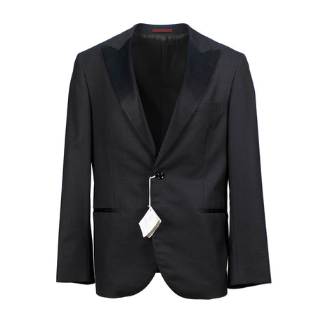Brunello Cucinelli // Wool Blend Satin Tuxedo Suit // Charcoal Gray (Euro: 52)