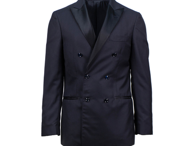 Photo of Designer Tuxedos Versace, Pal Zileri, & More Brunello Cucinelli // Cashmere Satin Trim Double Breasted Tuxedo Suit // Blue (Euro: 52) by Touch Of Modern