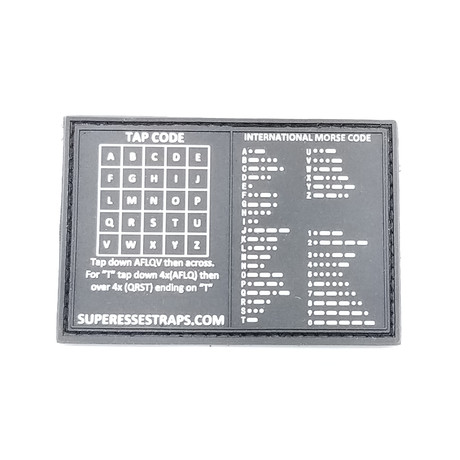 Morse Code Comms Velcro Patch Storage Pocket