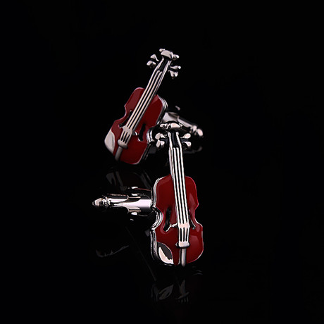 Exclusive Cufflinks + Gift Box // Red Violins