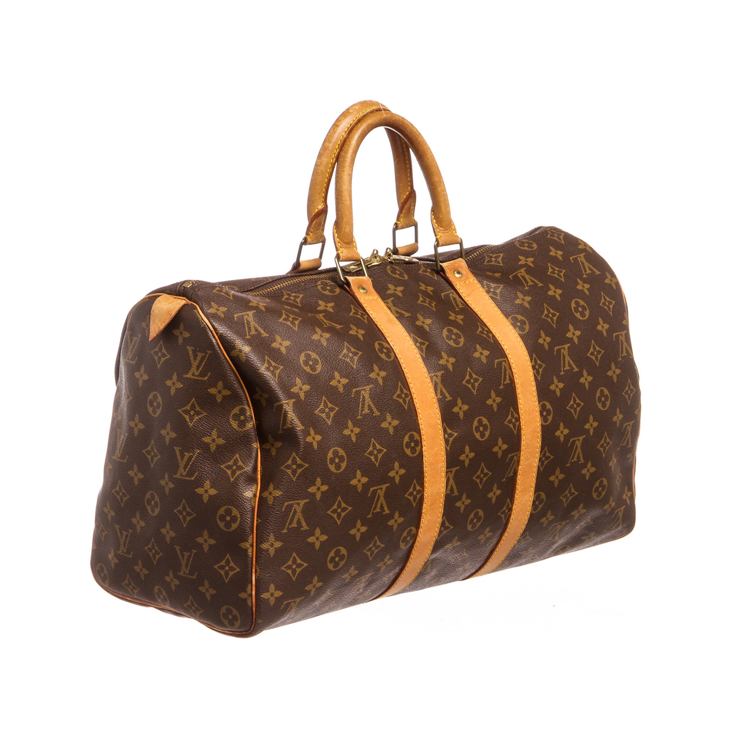 louis vuitton monogram keepall 45 duffle bag luggage pre owned louis vuitton touch of. Black Bedroom Furniture Sets. Home Design Ideas