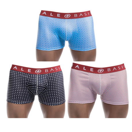 New Trunk 3-Pack Print // Red Waistband (S)