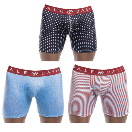 New Boxer Brief 3-Pack Print // Red Waistband (S)