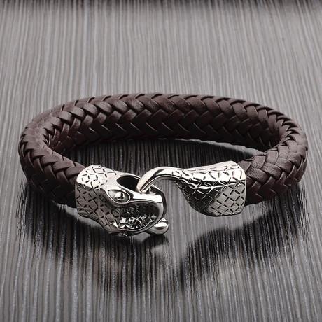 Woven Leather Snake Bracelet