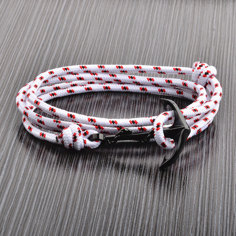 Anchor Cord Wrap Bracelet // White