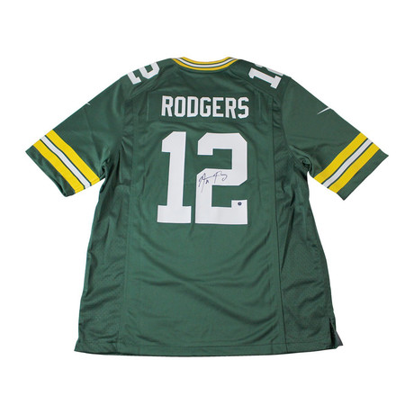 Signed Green Bay Packers Replica Jersey // Aaron Rodgers